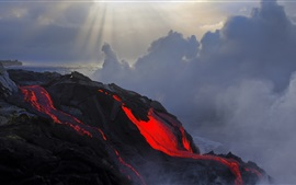 Preview wallpaper Lava, sea, clouds
