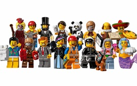 Preview wallpaper Lego movie, characters, white background