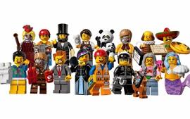 Película de Lego, personajes, fondo blanco