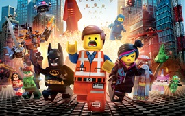 Preview wallpaper Lego movie, heroes, city