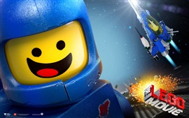 Preview wallpaper Lego movie, spaceship, happy guy
