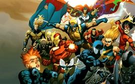 Preview wallpaper Marvel comics heroes