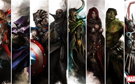 Marvel superheroes painting art