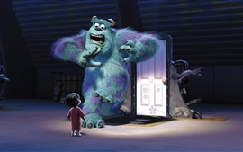 Preview wallpaper Monsters, Inc., monster and child girl