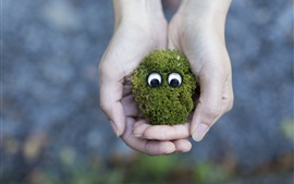 Preview wallpaper Moss face, eyes, creative, hands
