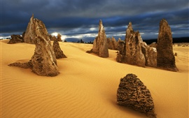 Preview wallpaper Nambung Desert, Australia, rocks