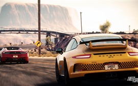 Preview wallpaper Need For Speed, Porsche and Ferrari supercars