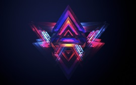 Preview wallpaper Neon pyramids, colorful light