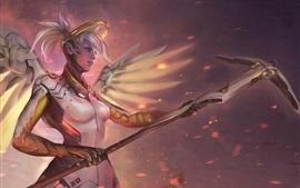 Overwatch, Blizzard, niña, cuadro de arte
