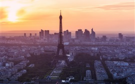 Paris in the morning, Eiffel Tower, France