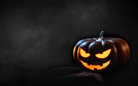 Preview wallpaper Pumpkin light, Halloween, dark