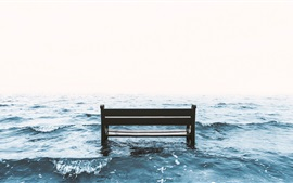 Preview wallpaper Sea, bench, waves