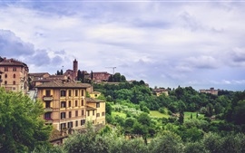 Preview wallpaper Siena, Italy, city, trees, buildings