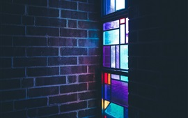 Stained glass, colorful, window, wall