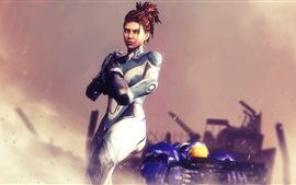 Preview wallpaper StarCraft 2, Sarah Kerrigan, human
