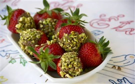 Strawberry, berries, dessert, fruit