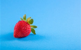 Strawberry, blue background