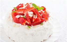 Preview wallpaper Strawberry cake, dessert, delicious