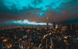 Preview wallpaper Taipei, Taiwan, city, skyscrapers, buildings, night, lights