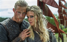 Preview wallpaper The Vikings, Gaia Weiss, Alexander Ludwig