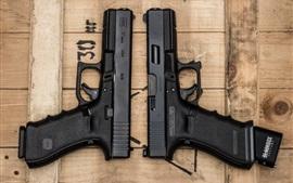壁紙のプレビュー 2つの銃、武器