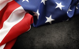 壁紙のプレビュー アメリカの旗、ファブリック