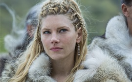 Preview wallpaper Vikings, hot TV series, Katheryn Winnick