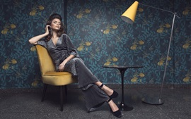 Preview wallpaper Woman, costume, table, lamp, chair