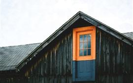 Wood house, door