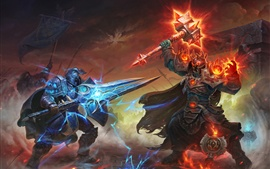 Preview wallpaper World of Warcraft, sword, armor, hammer, art picture