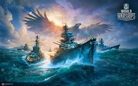 Preview wallpaper World of Warships, battleship, eagle