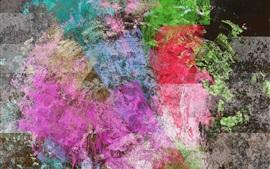 Abstrato, pintura, colorido