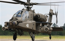 Preview wallpaper Apache AH-64 helicopter front view