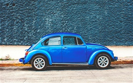 Preview wallpaper Blue Volkswagen retro car
