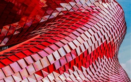 Preview wallpaper Building structure, red scales