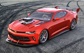 Preview wallpaper Chevrolet Camaro rendering red sports car