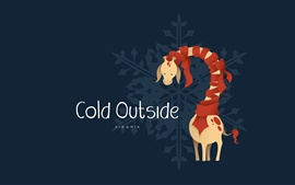 Preview wallpaper Cold Outside, giraffe, scarf