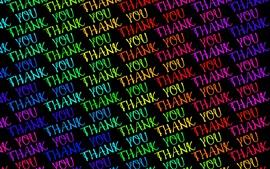 Texte de remerciement coloré