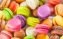 Preview wallpaper Colorful almond macarons, sweet food