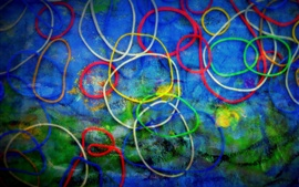 Preview wallpaper Colorful circles background, abstract picture