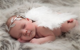 Preview wallpaper Cute baby sleep, angel