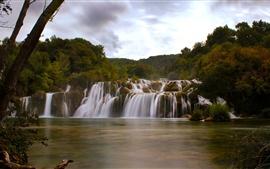 미리보기 배경 화면 달마 티아, 크로아티아, Krka 국립 공원, 폭포