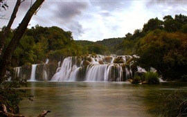 Aperçu fond d'écran Dalmatie, Croatie, parc national de Krka, cascade