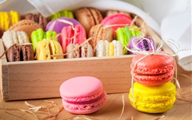 Delicious almond macarons, colors