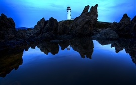 Preview wallpaper Fanad Head Lighthouse, Ireland, night