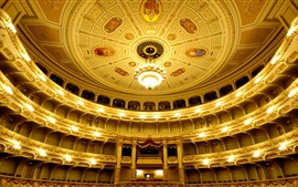 Preview wallpaper Germany, Saxony, Dresden, Opera, hall, balcony, lights