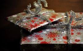 Aperçu fond d'écran Cadeaux, motif de flocons de neige