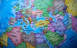Globe, map