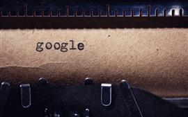 Preview wallpaper Google, typewriter