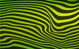 Preview wallpaper Green and black wavy stripes
